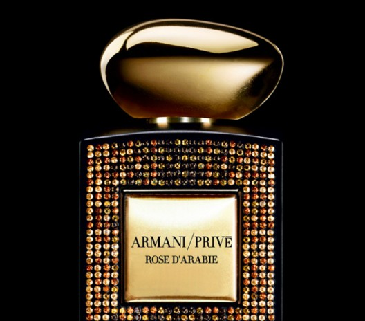 Swarovski Limited Edition of the Armani Prive Rose d'Arabie perfume launched this Christmas