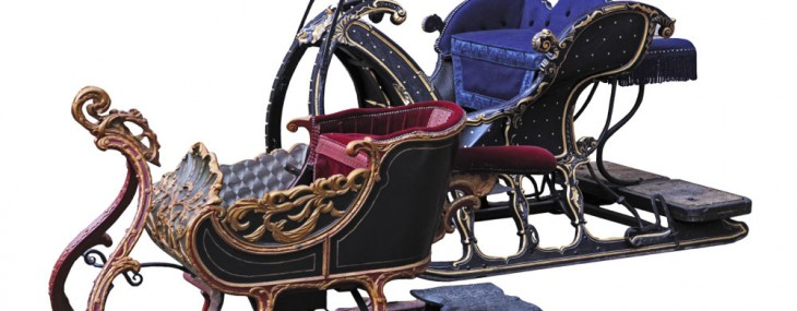 Historic Sleigh in Santa's Style at Bonhams Auction