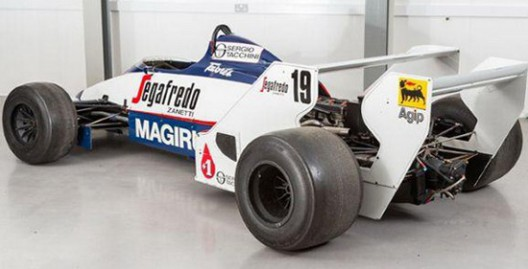 Ayrton Senna's first F1 car, Toleman TG183b, which he drove at his first Grand Prix race in Brasil, is on sale in UK