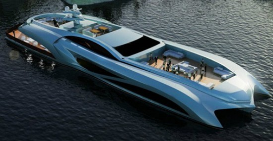 We present you Xhibitionist Event superyacht, which is the work of Turkish shipyards Nedship Group