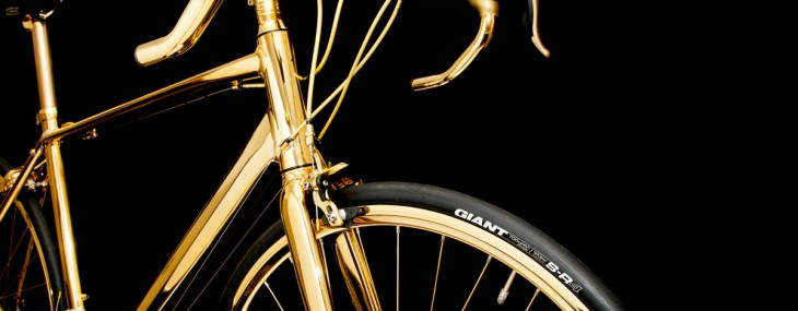 24K Gold Men's Racing Bike by Goldgenie