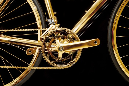 24K Gold Men's Racing Bike by Goldgenie