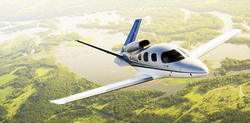 Cirrus Aircraft's Conforming Aircraft C2 of the Vision SF50 Jet on its Maiden Flight