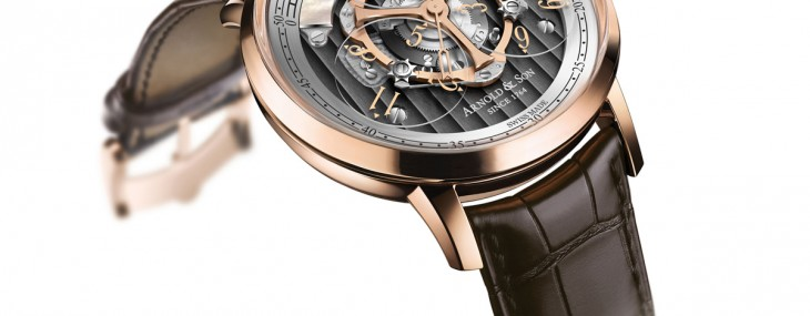 Golden Wheel by Arnold & Son - World's First Wandering Hours and True Beat Seconds Watch