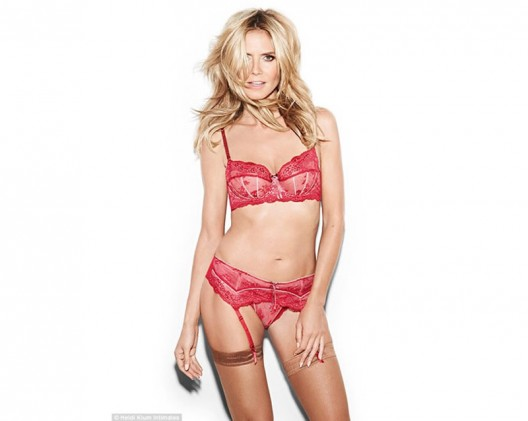 Heidi Klum Debuts Her New Lingerie Line As Star of the Ad Campaign