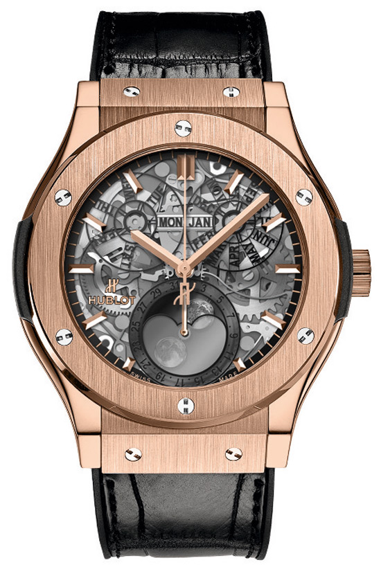 Hublot further expands the Classic Fusion line with a Hublot Classic Fusion Aeromoon