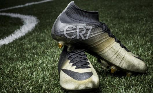Cristiano Ronaldo Receives Nike's Diamond-studded Gold Boots