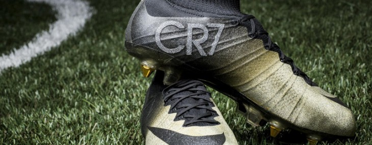 Cristiano Ronaldo Receives Nike's Diamond-studded Gold Boots