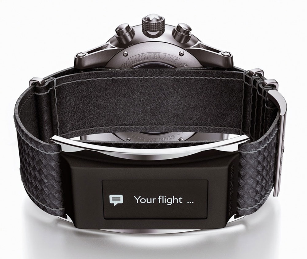 Montblanc e-Strap Combines Smart Wearable Device With Mechanical Watch In New Timewalker Urban Speed Collection