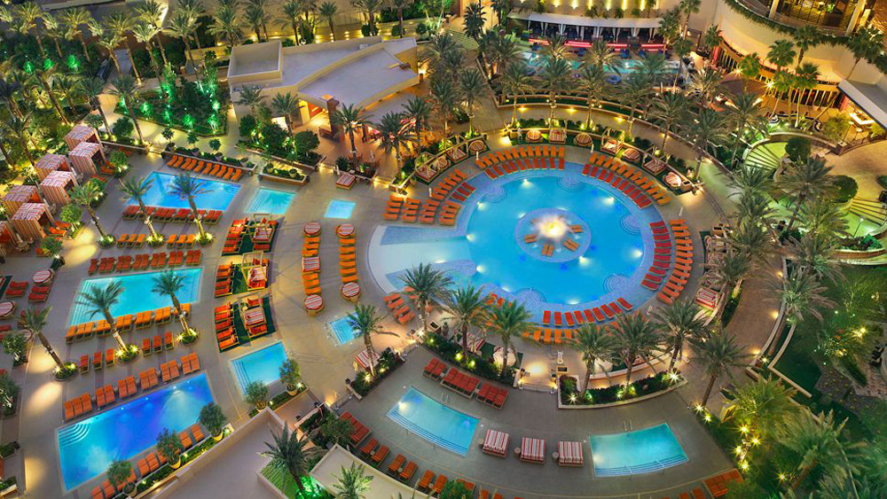 Red rock casino resort and spa best las vegas off the for Pool show vegas