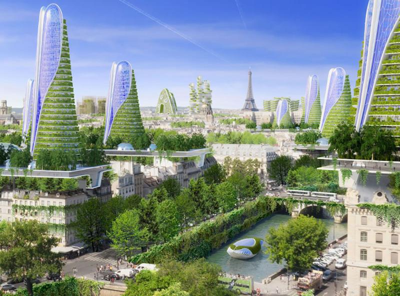 Vincent Callebaut's Plans for Paris - Smart City of the Future