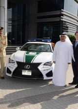 2015 V8-powered Lexus RC F – Newest Dubai Police's Patrol Car