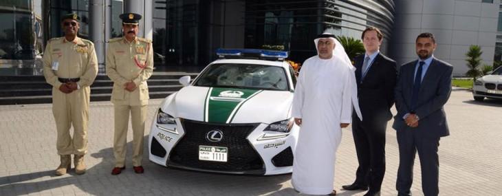 2015 V8-powered Lexus RC F - Newest Dubai Police's Patrol Car