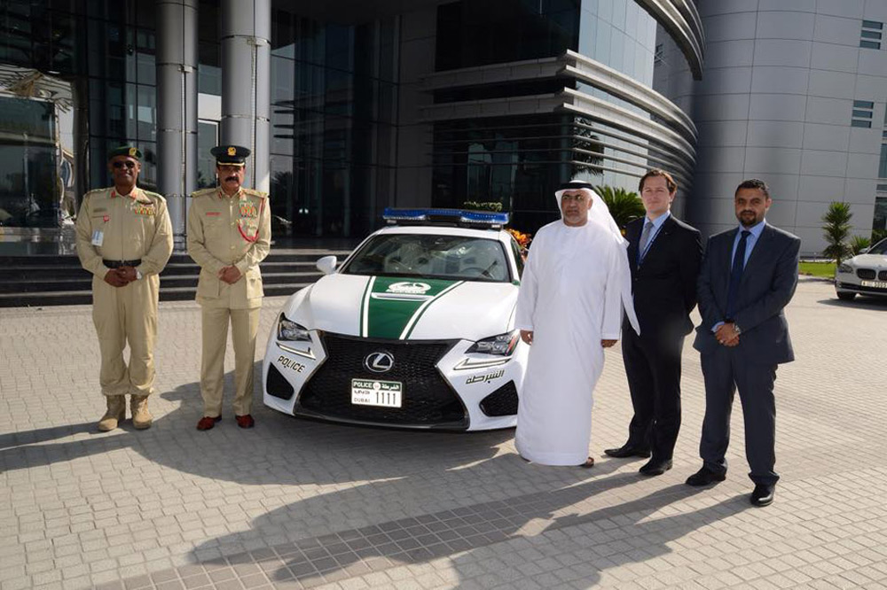 2015 V8-powered Lexus RC F - Newest Dubai Police's Patrol Car