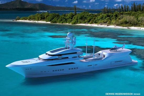 Arctic Sun Superyacht from Swedish designer Dennis Ingemansson
