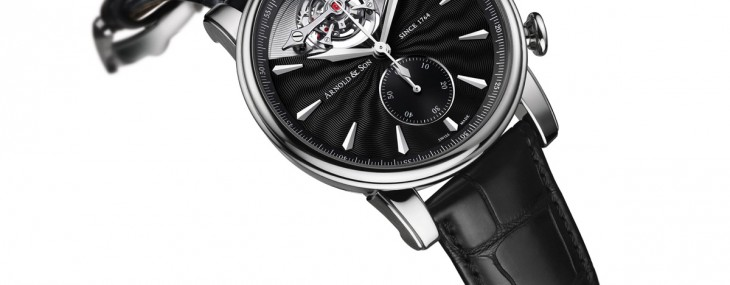 Arnold & Son unveils a new reference of the TEC1 with a palladium case and a black guilloché dial