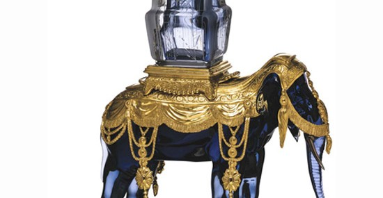 $82,545 Baccarat Mémoire Elephant Vase Holder