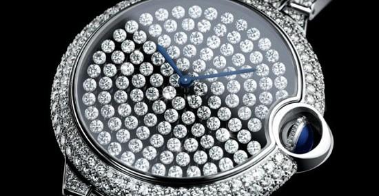 Cartier Serti Vibrant Watch Wrapped in Diamonds