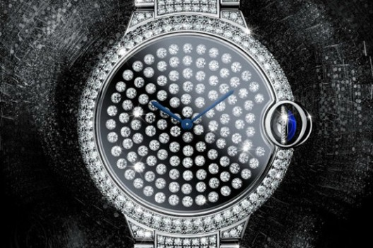 Cartier Serti Vibrant Watch Wrapped in Diamonds