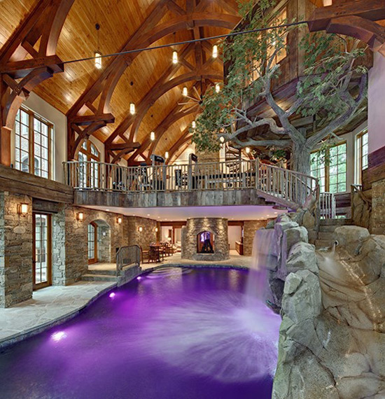 Luxury Homes On The Water: Lakefront Dream Home Lists With Indoor Tree House