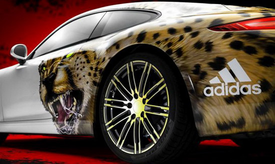 Adidas has prepared special reward - Porsche 911 Carrera with cheetah design