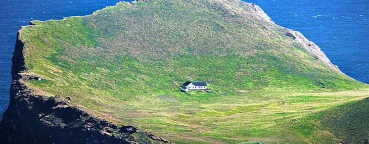 The most isolated houses in the world is located on the beautiful island of Elliðaey
