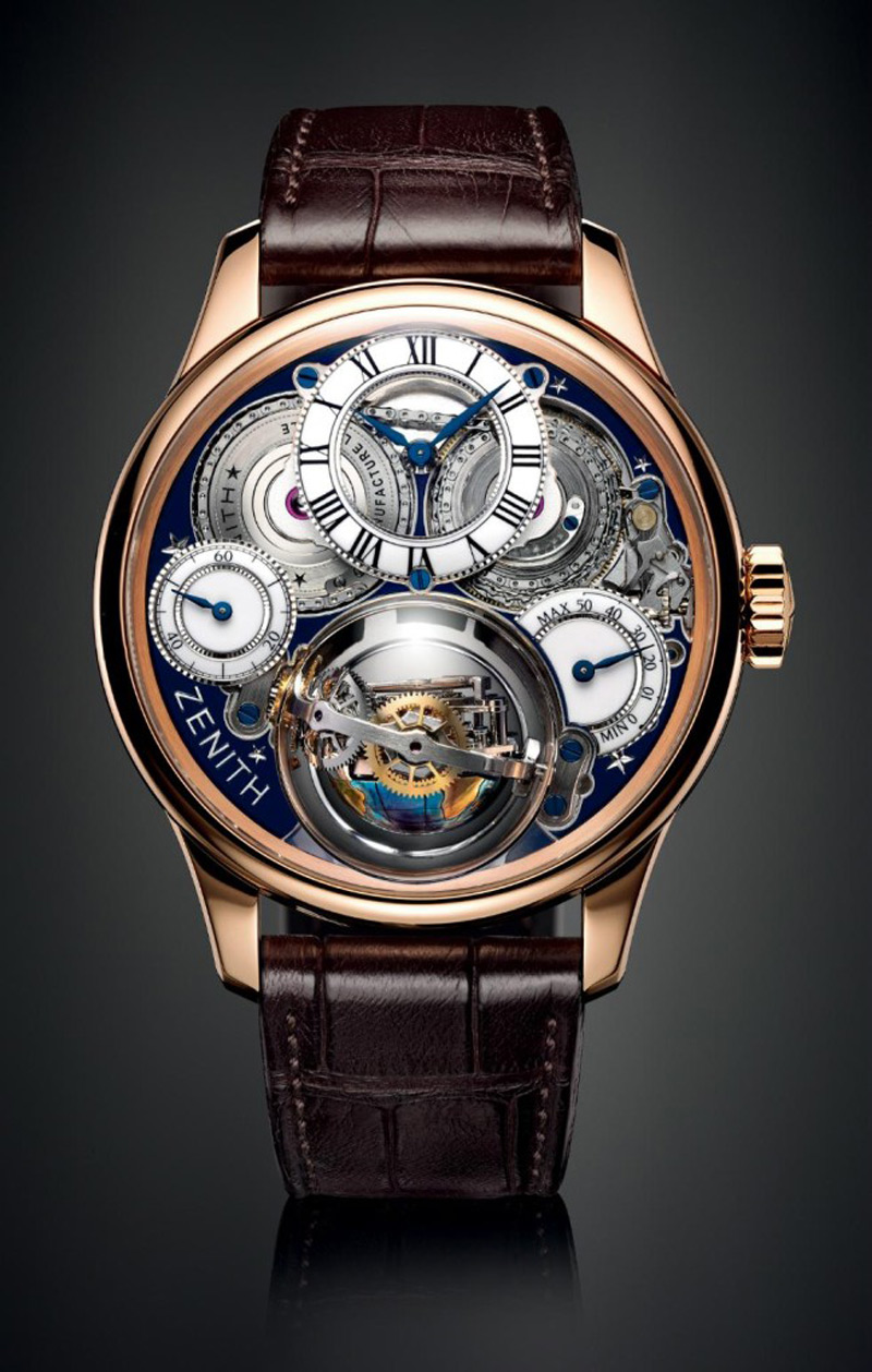 Academy christophe colomb hurricane grand voyage ii by zenith extravaganzi for Zenith watches