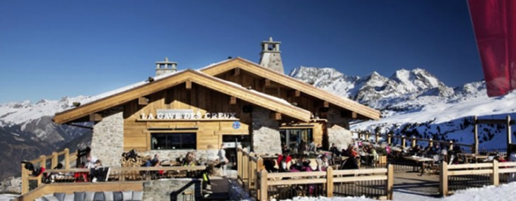 Glam Ski Dining at Cave des Creux in Courchevel in the French Alps