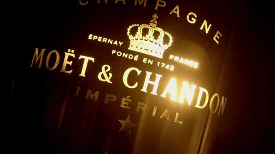 Bright Night by Moët & Chandon - First Luminous Champagne Bottle