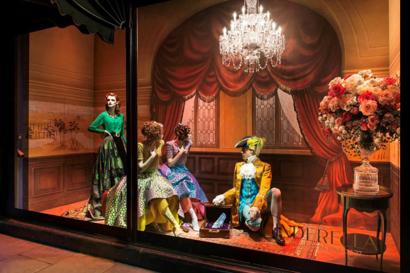 Cinderella's Magical World at Harrods Windows