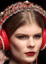 D&G Headphones With Crystals, Fur And Pearls