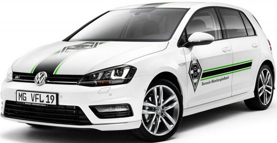 Golf model, named Golf Borussia Mönchengladbach edition