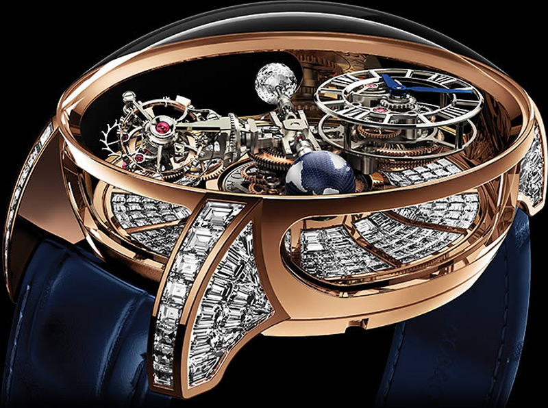 $1 Million Jacob & Co. Astronomia Tourbillon Baguette Watch