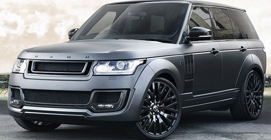 modified Range Rover RS-650 Edition, in Volcanic Rock Satin color