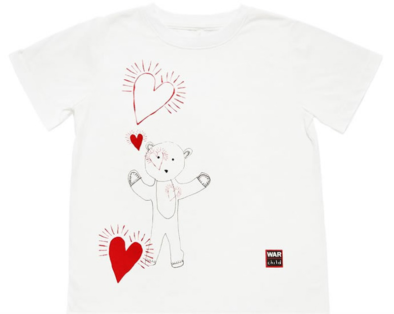 Stella McCartney's T-shirts for the War Child UK