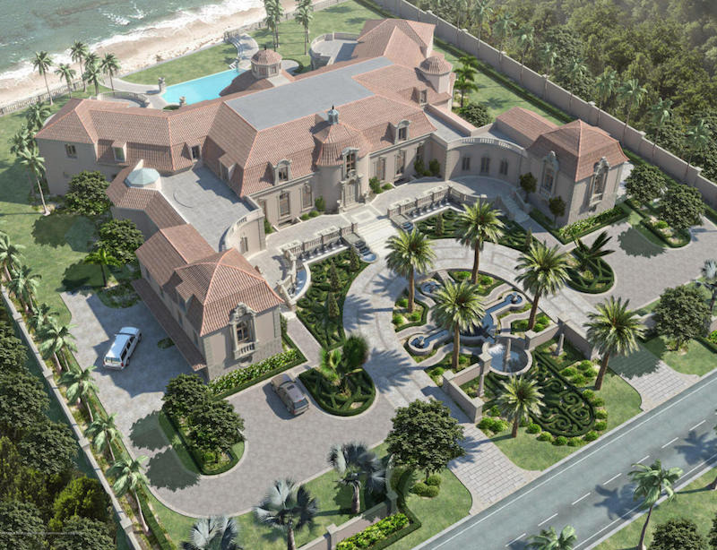 Unfinished Palm Beach Mansion1