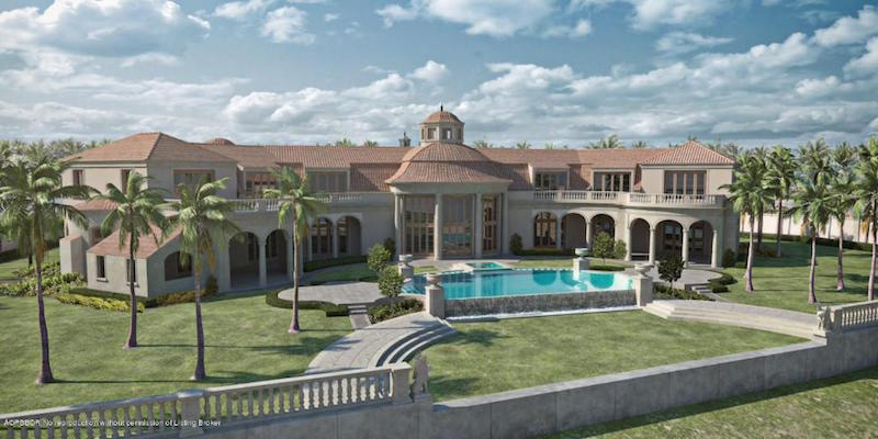 Unfinished palm beach mansion listed on sale for 84 5 for Luxury mansions for sale in florida