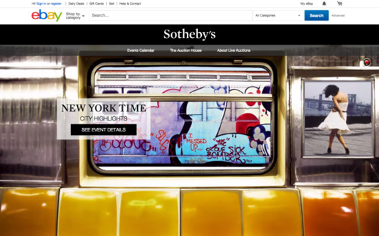 New eBay & Sotheby Live Online Auction Site