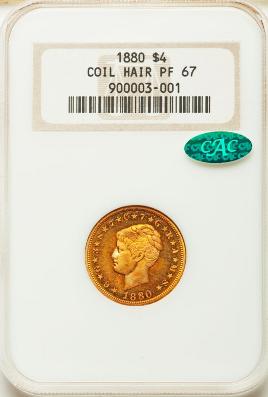Rare 1880 $4 Coiled Hair Stella Coins Could Fetch $1,2 Million at Heritage Auction