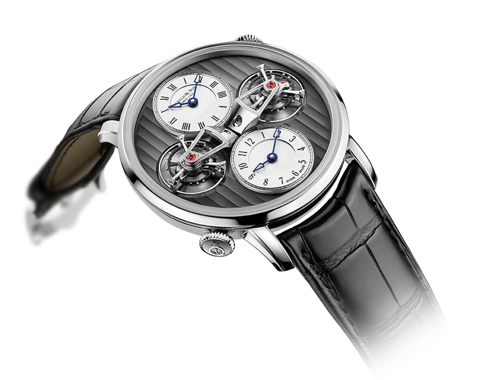 Arnold & Son's New Double Tourbillon Escapement Dual Time Watch - DTE