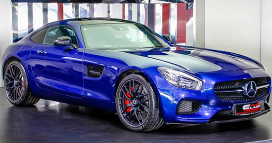 Brilliant Blue Metallic Mercedes-AMG GT S On Offer In Dubai