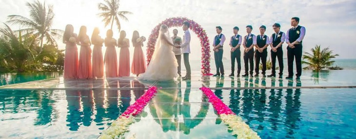 Over-Water Wedding Ceremony at Conrad Koh Samui