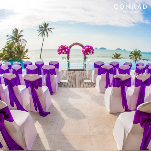 Over-Water Wedding Ceremony at Conrad Koh Samui