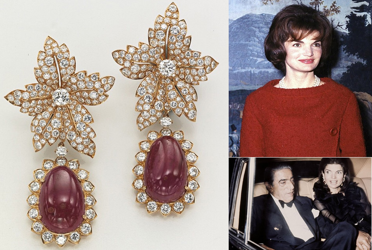 jacqueline kennedy onassis wedding jewels at christie 39 s auction extravaganzi. Black Bedroom Furniture Sets. Home Design Ideas