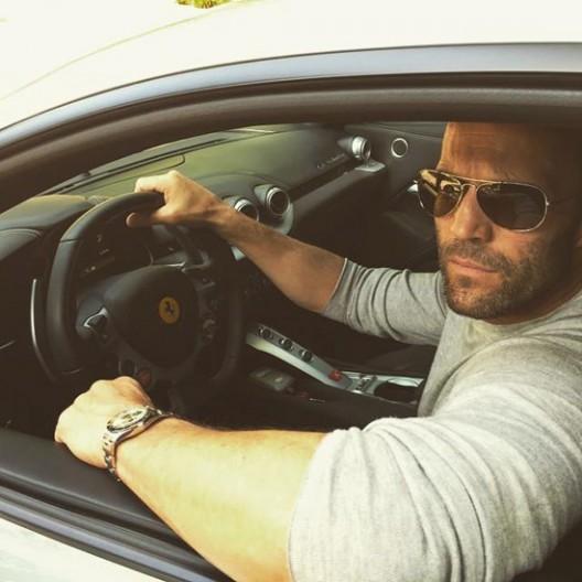 "The British actor, now owns a Ferrari ""F12 Berlinetta"" in metallic-gray color"