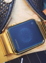 Karl Lagerfeld's Luxe Customized Gold Apple Watch