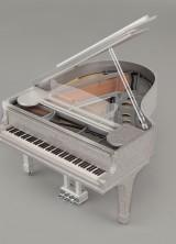 Steinway Piano Encrusted with Half a Million Swarovski Crystals