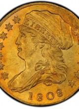 1808 American Quarter Eagle Gold Coin