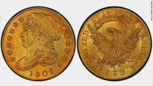 1808 American Quarter Eagle Gold Coin
