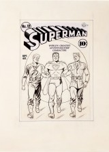1941 Superman #12 Original Cover Art, Never Offered Before, At Heritage Auctions